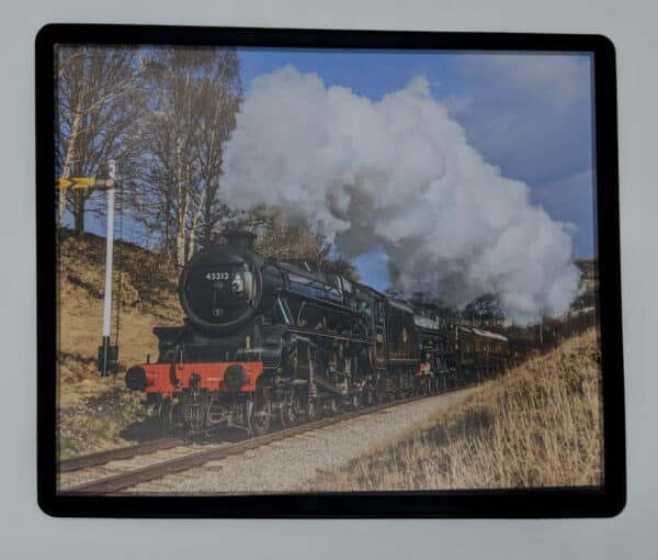 Steam train mouse mat with 45212 and 45596 Bahamas