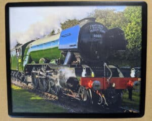 Flying Scotsman steam train mouse mat
