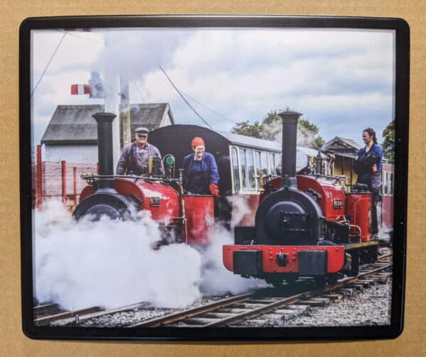 Maid Marian and Alice on the Bala Lake Railway mousemat