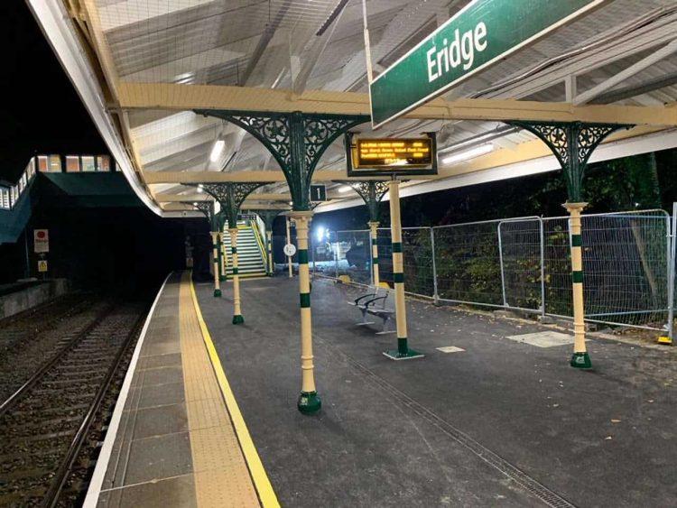 Platform at Eridge station