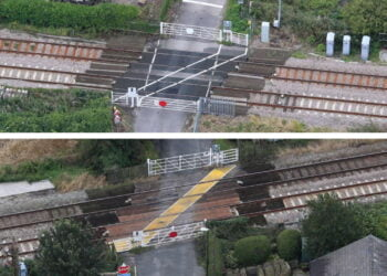 Shaws and Crabtree level crossings composite