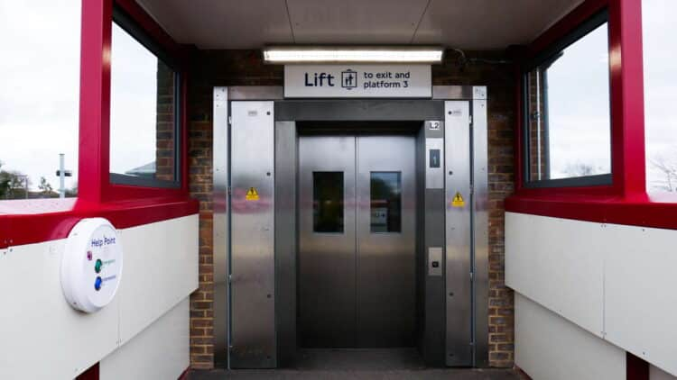 Amersham station lift, London Underground