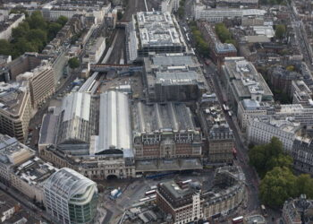Victoria station aerial view