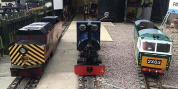 Locmotives at the Fancott Miniature Railway