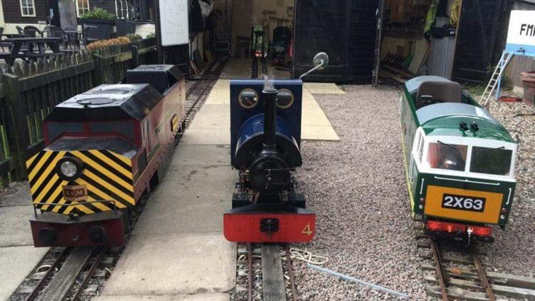 Locmotives at the Fancott Miniature Railway