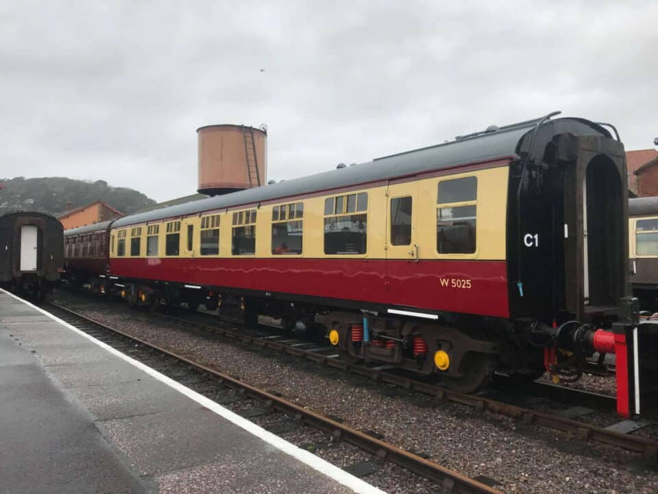 Mark 1 carriages repainted at the West Somerset Railway