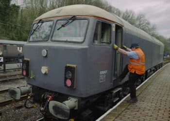 Class 69 69001 on test at the Severn Valley Railway