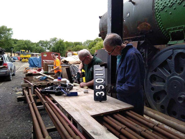 Work on 35011 General Steam Navigation