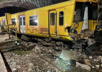 Merseyrail train at Kirkby after incident