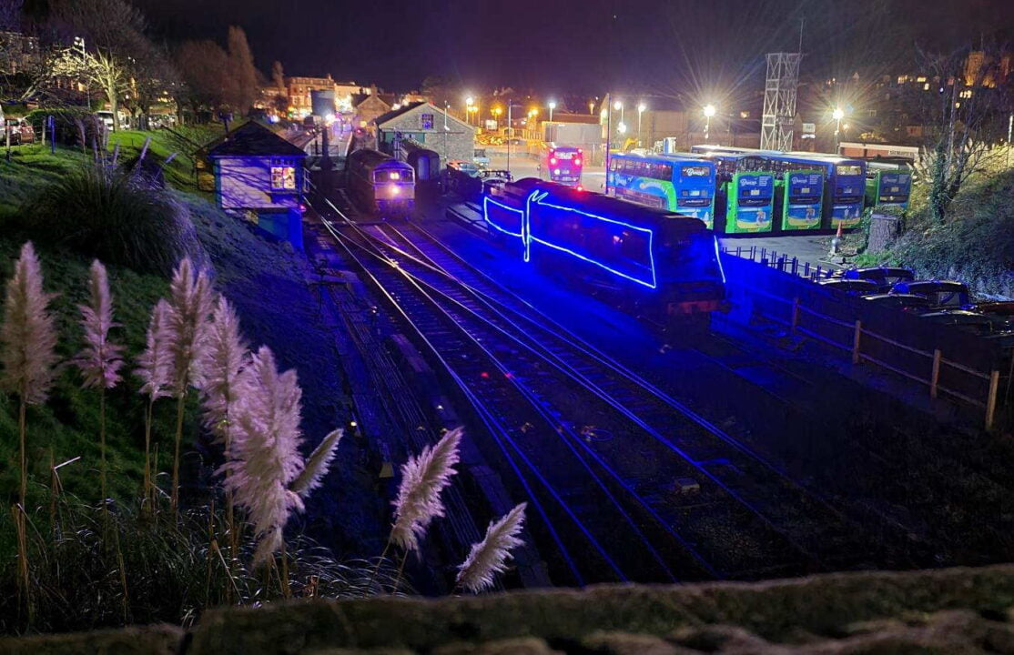 257 Squadron with the Swanage Railway Train in Lights