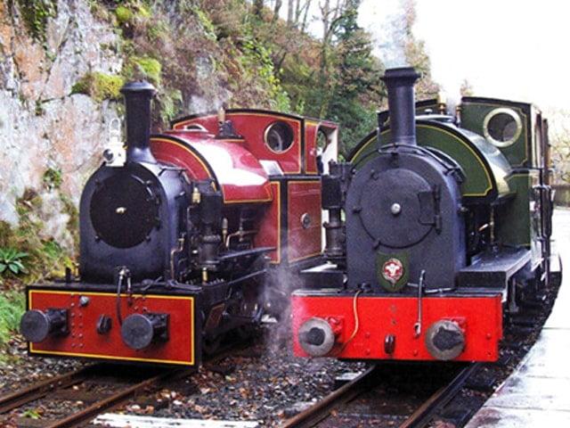Corris No. 7 and Talyllyn No. 4 Edward Thomas at Nant Gwernol