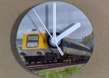 CD Clock featuring HST Powercar 41001 on the Keighley and Worth Valley Railway