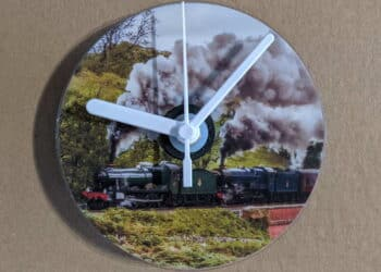 CD Clock featuring steam locomotives 6990 Witherslack Hall and 6023 King Edward II on the North Yorkshire Moors Railway