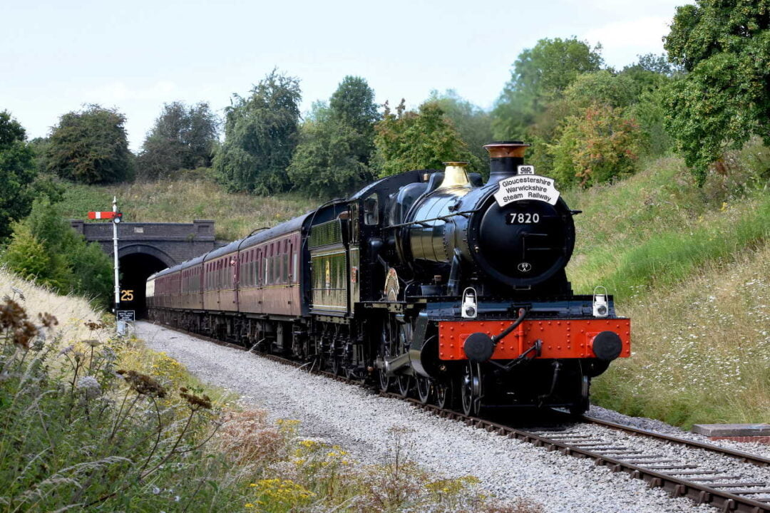 7820 Dinmore Manor emerges from Greet tunnel