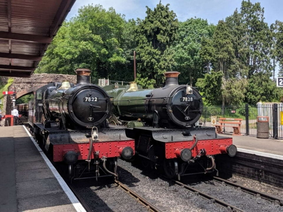 7822 Foxcote Manor and 7828 Odney Manor on the West Somerset Railway