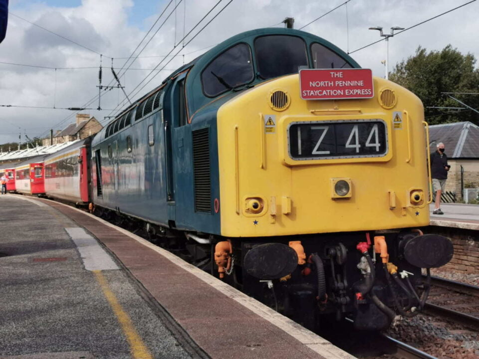 Class 40 40145 with The Staycation Express