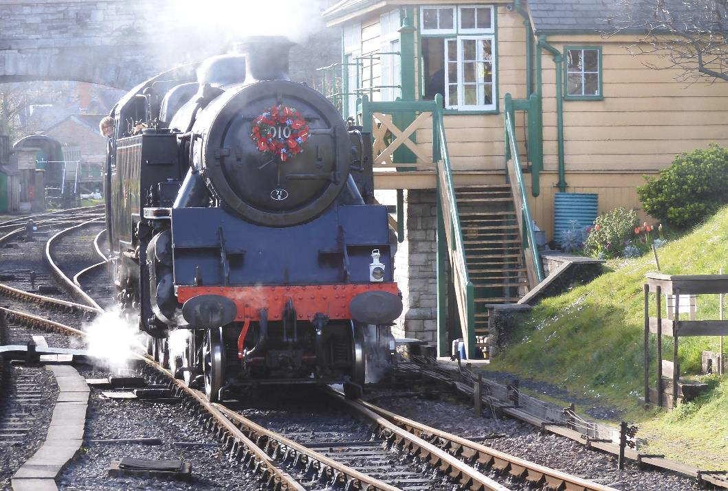 80104 running around at Swanage