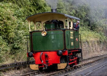 Steam tram Lucie in action at the North Yorkshire Moors Railway