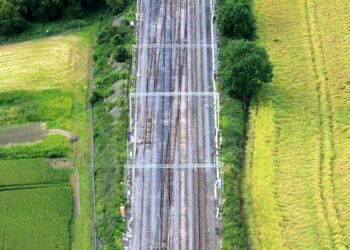 Hanslope Junction aerial