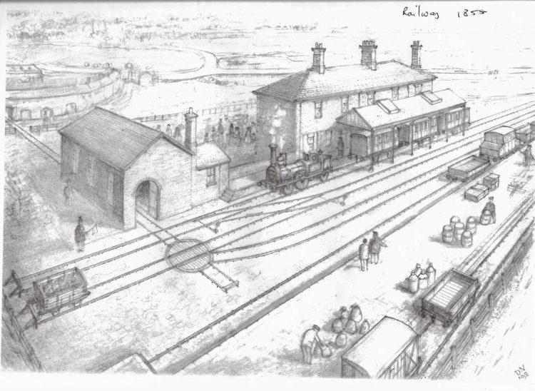 Horncastle station 1855 drawing