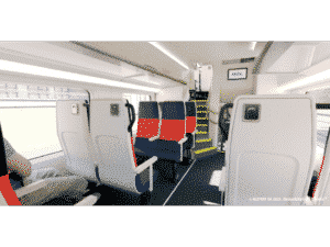 Internal View of New Cars for Metra // Credit Alstom