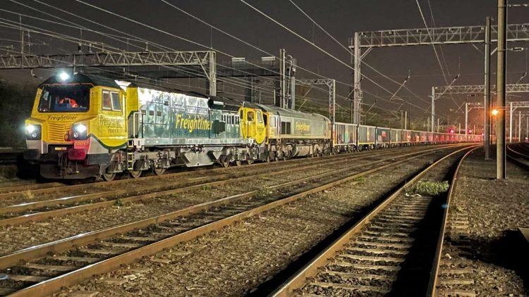 Jumbo freightliner service on first West Coast main line journey