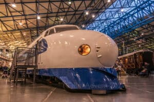 1976 Shinkansen Bullet Train at the National Railway Museum