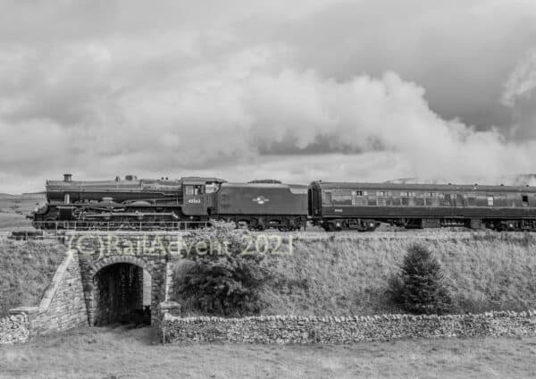 LMS Jubilee No. 45562 Alberta heads for Ribblehead with The Waverley