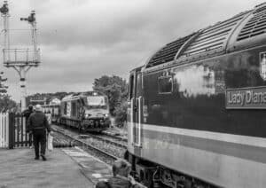 47712 Lady Diana Spencer and 68001 at Appleby