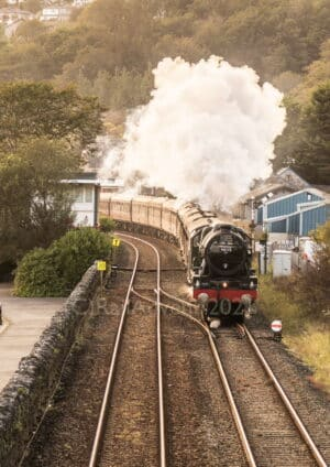 46115 Scots Guardsman passes Grange over Sands - The Cumbrian Coast Express