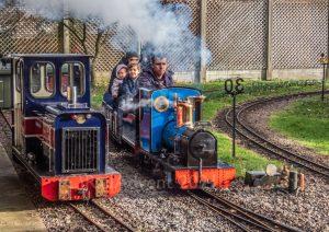 Samson and John A Patten on the East Herts Miniature Railway