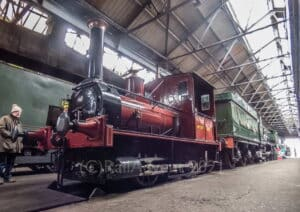 No. 5 'Shannon / Jane' stands in the shed - Didcot Railway Centre