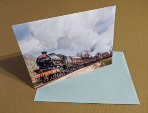 45596 Bahamas Steam Train Greeting Card