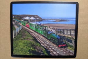 Mouse Mat 1932 'Triton' on the North Bay Railway in Scarborough