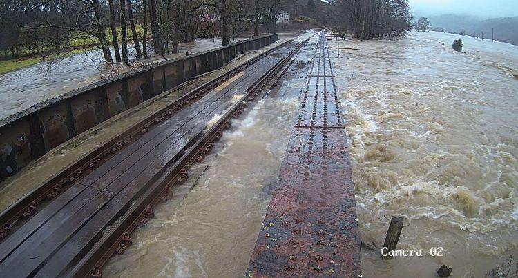 black bridge flooding