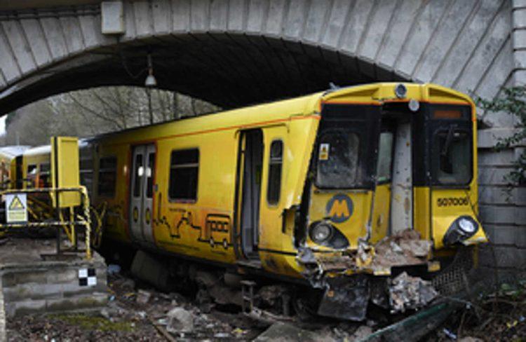 Merseyrail train crash at Kirkby