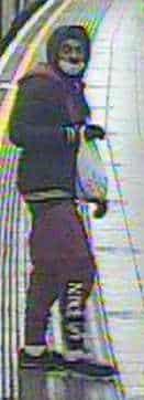 Central Line Assault CCTV Image