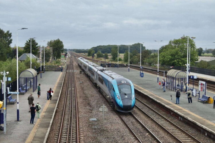 TransPennine Express train at Church Fenton