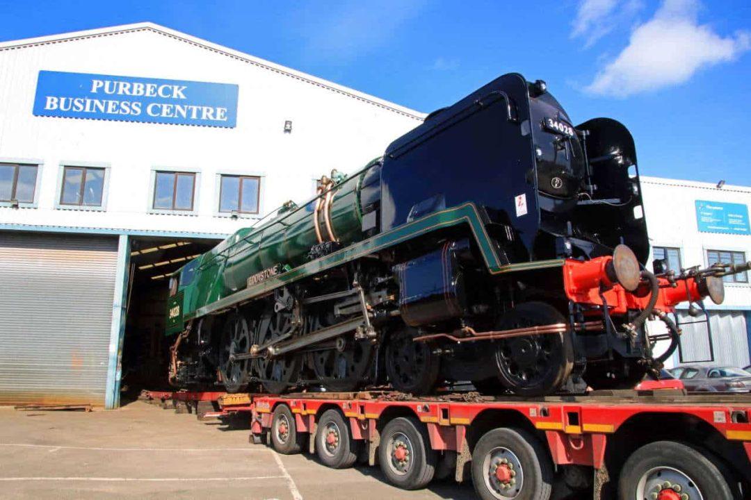 34028 Eddystone leaves Herston Works