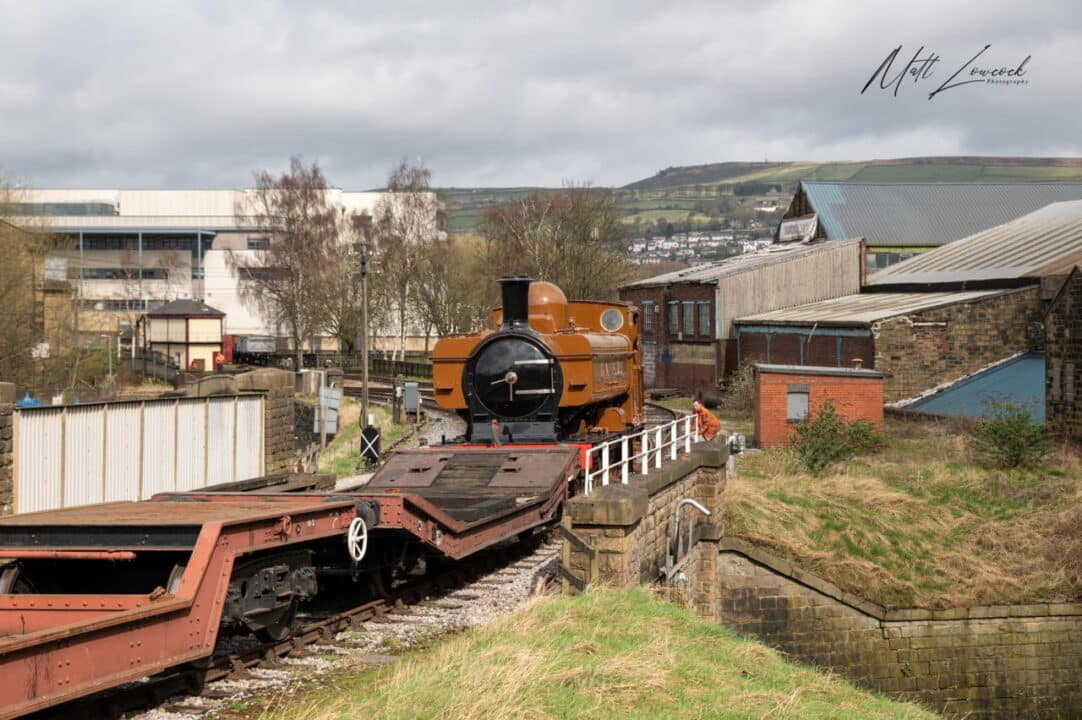 Pannier Tank 5775 on the move at Keighley