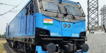 100th new locomotive for Indian Railways