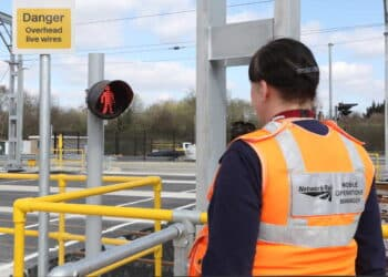 Brent Cross West March 2021 New level crossing Network Rail Mobile operations manager Michelle Gull