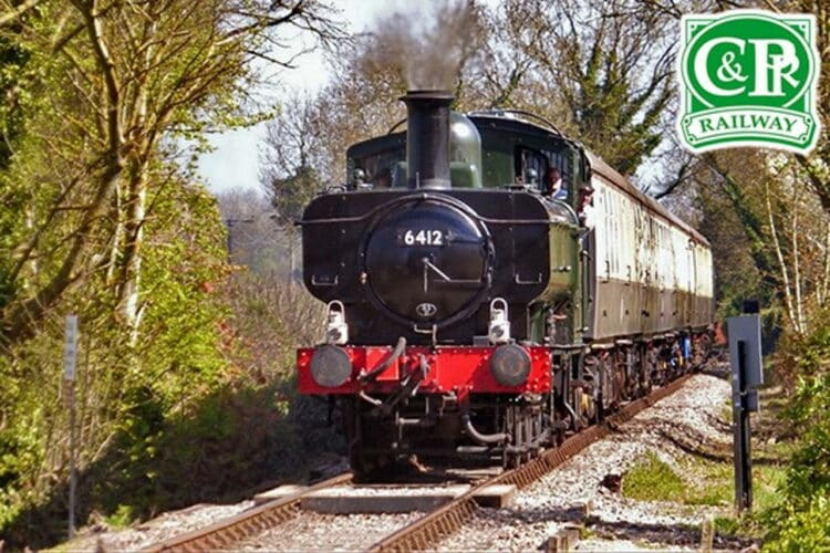 Pannier Tank 6412 on the Chinnor and Princes Risborough Railway