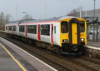 Transport for Wales Class 150 at Taffs Well