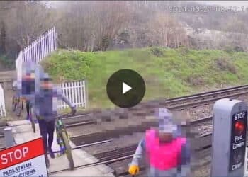 Cyclist trespass in Kent