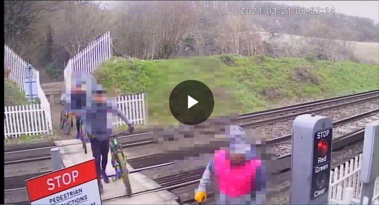Cyclist trespass in Kent