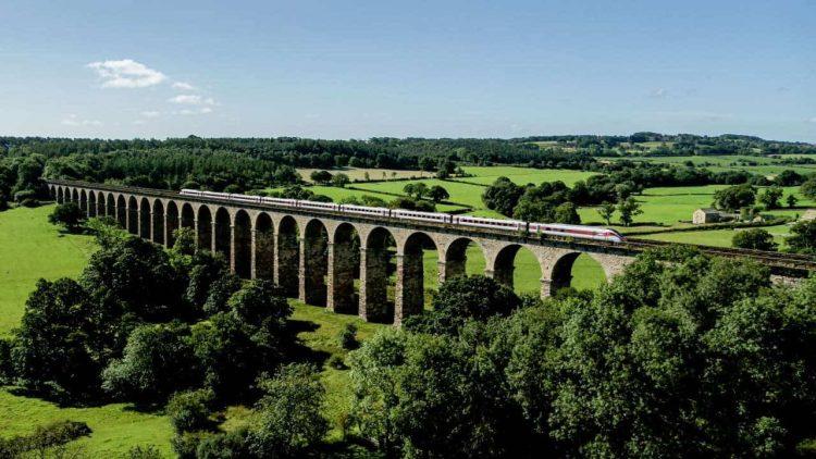 LNER Train on a viaduct