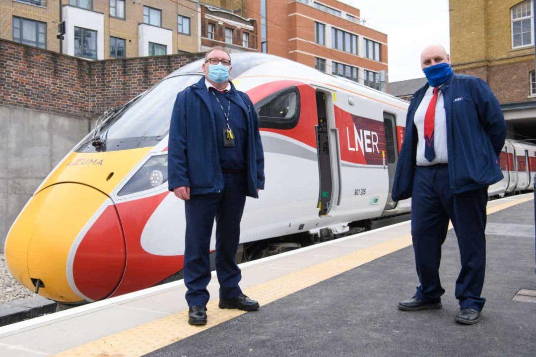 LNER drivers Simon Woolley & Melvyn Lake