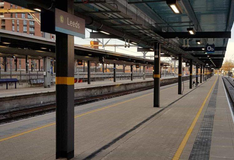 Leeds station platforms