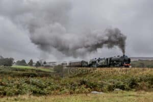 926 Repton & 825 head away from Goathland, North Yorkshire Moors Railway